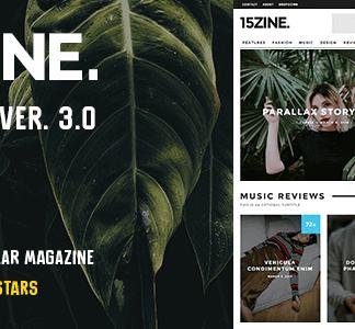 15Zine – Hd Magazine Newspaper Wordpress Theme