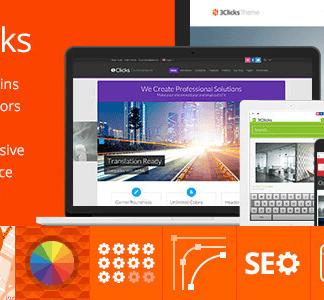 3Clicks – Responsive Multi-Purpose Wordpress Theme