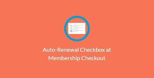 Paid Memberships Pro – Auto-Renewal Checkbox At Membership Checkout