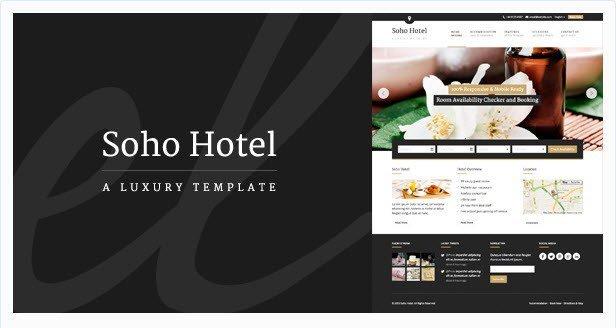 Soho Hotel – Responsive Hotel Booking Wp Theme