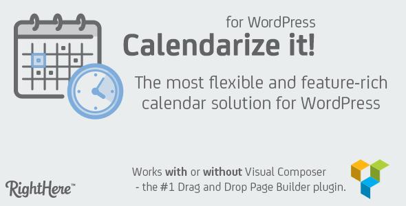 Calendarize It! – Calendar Solution For Wordpress + Addons