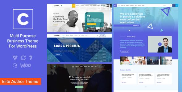 Capital – Multi Purpose Business Wordpress Theme