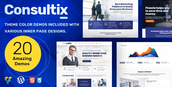 Consultix Consulting - Business Consulting WordPress Theme