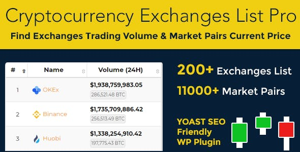Cryptocurrency Exchanges List Pro