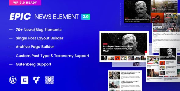 Epic News Elements for Elementor and WPBakery Page Builder