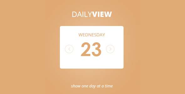 Eventon Daily View Addon