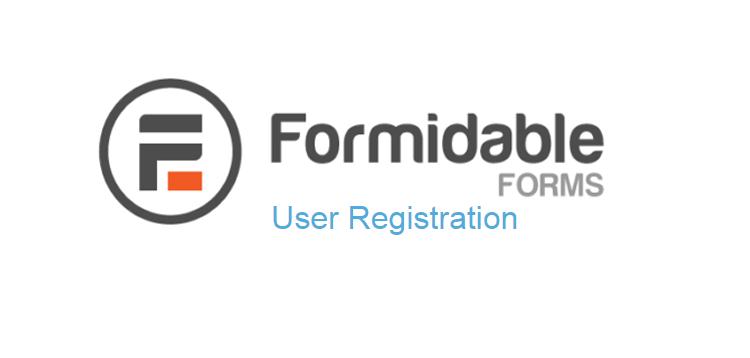 Formidable Forms – User Registration
