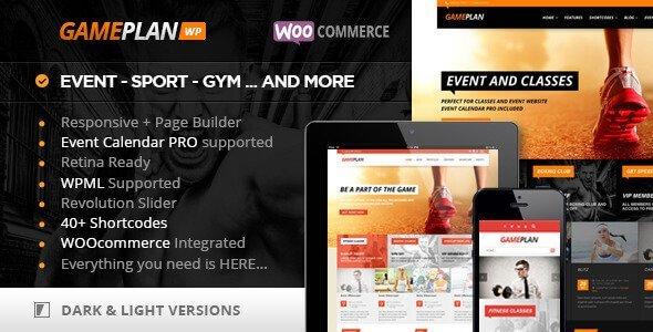 Gameplan – Event And Gym Fitness Wordpress Theme