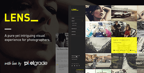 Lens – An Enjoyable Photography Wordpress Theme