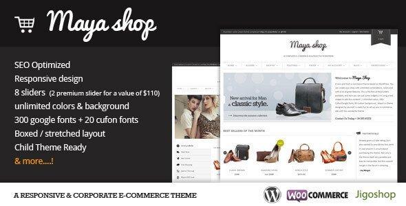 Mayashop – A Flexible Responsive E-Commerce Theme