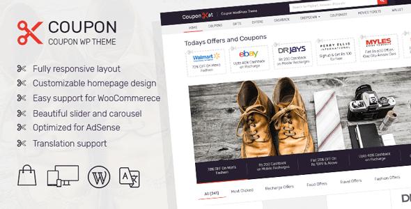 Coupon – Wordpress Coupon Theme