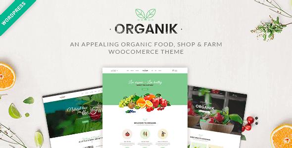 Organik – An Appealing Organic Store Farm & Bakery Woocommerce Theme