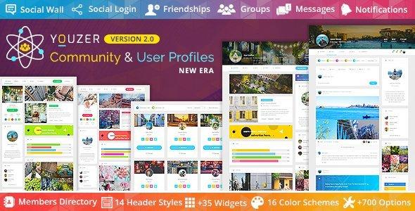 Youzer - Buddypress Community & User Profiles Wordpress Plugin New Era
