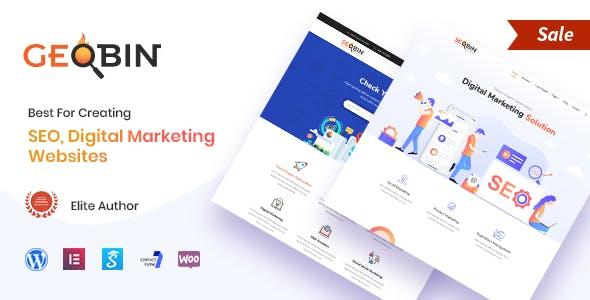 GeoBin   SEO and Digital Agency WordPress Theme