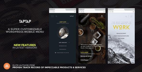 Taptap – A Super Customizable Wordpress Mobile Menu