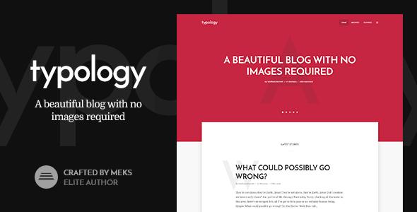 Typology – Text Based Minimal Wordpress Blog Theme