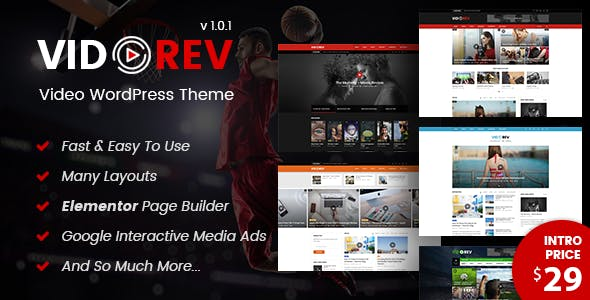 VidoRev - Video WordPress Theme
