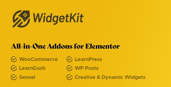 WidgetKit Pro for Elementor