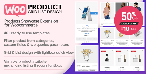 WOO Product Grid/List Design