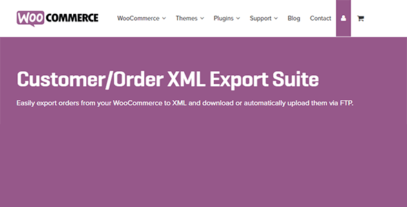 Woocommerce Customer Order Xml Export Suite