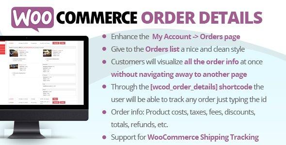 WooCommerce Order Details