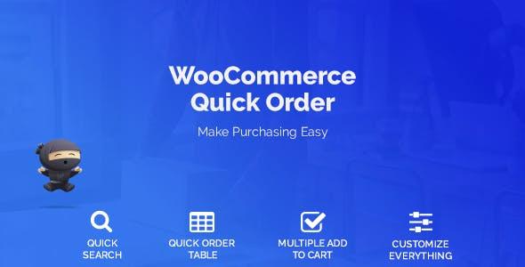 WooCommerce Quick Order