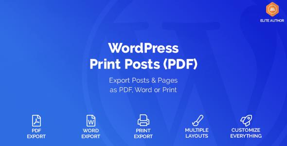 WordPress Print Posts & Pages (PDF)