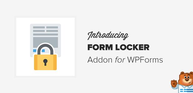 WPForms – Form Locker addon